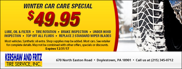 Winter Car Care Special