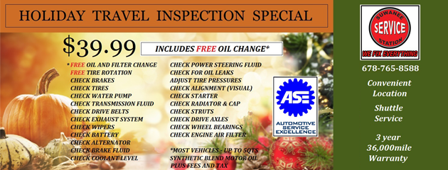 Holiday Travel Inspection Special