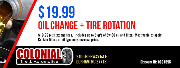 $19.99 Oil Change + Tire Rotation