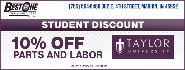 Student Discount - Taylor University