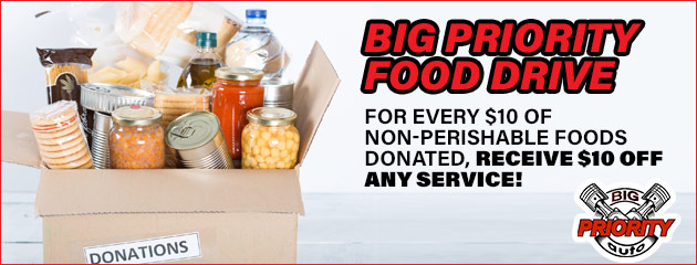 Donate Food and Get $10 Off Any Service