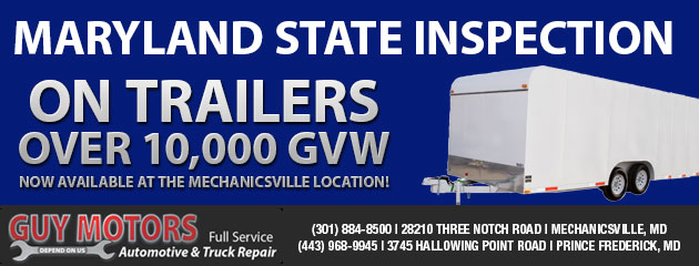 Maryland State Inspection on Trailers over 10,000 GVW