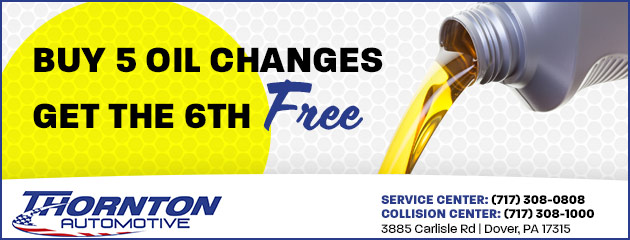 Buy 5 Oil Changes, Get the 6th One Free