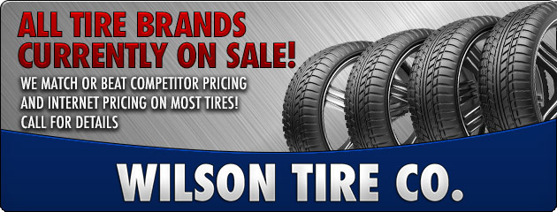 All Tire Brands Currently On Sale!