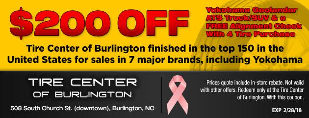Tire Quotes Entrancing Tire Center Of Burlington  Burlington Nc Tires & Auto Repair Shop