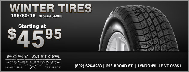 Winter Tires Starting at $45.95