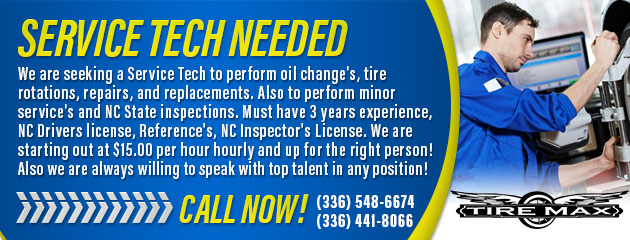 Service Tech Needed