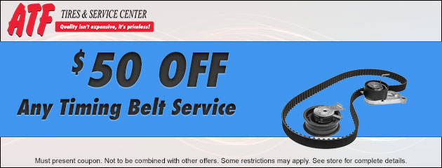 $50 Off Any Timing Belt Service