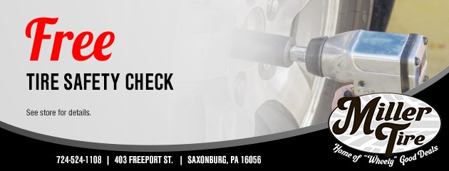 Free Tire Safety Check Coupon