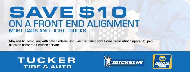Save $10 on a Front End Alignment