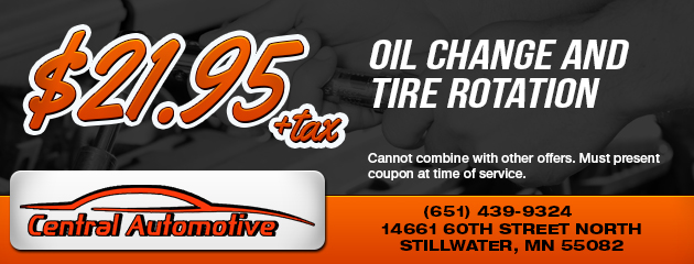 $21.95 oil change and tire rotation