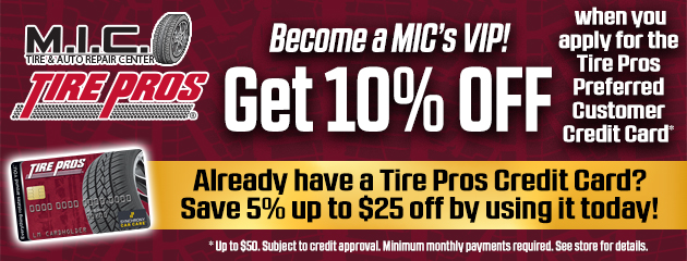 Become a MIC's VIP and get 10% Off!