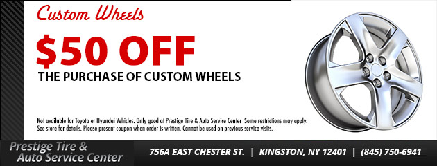 $50 OFF Custom Wheels