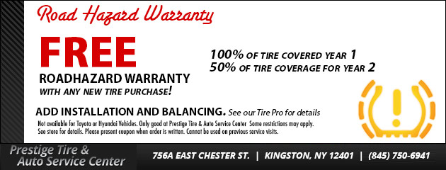 Free Tire Roadhazard Warranty