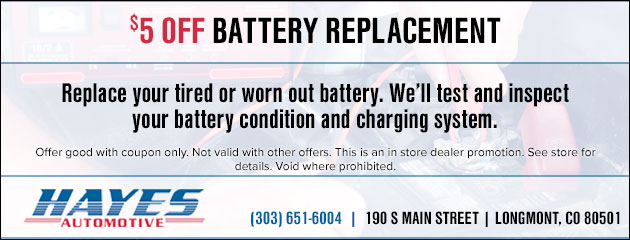 $5 Off Battery Replacement