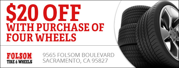 $20 off with purchase of four wheels