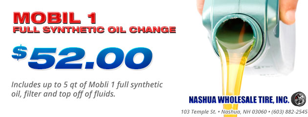 Mobil 1 Full Synthetic Ol Change - $52.00