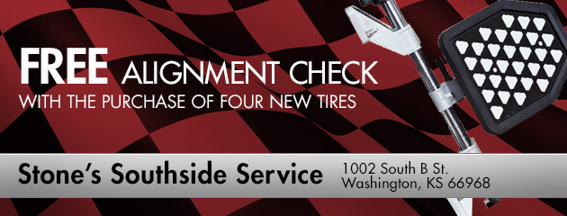 Free Alignment Check with the purchase of four new tires