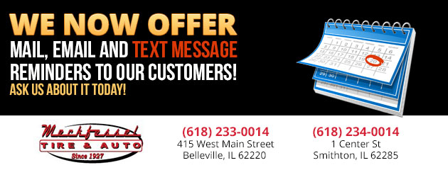 We now offer mail, email and TEXT MESSAGE Reminders to our customers! Ask us about it today!