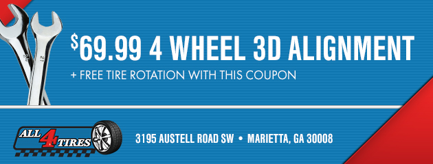 $69.99 4 Wheel 3D Alignment