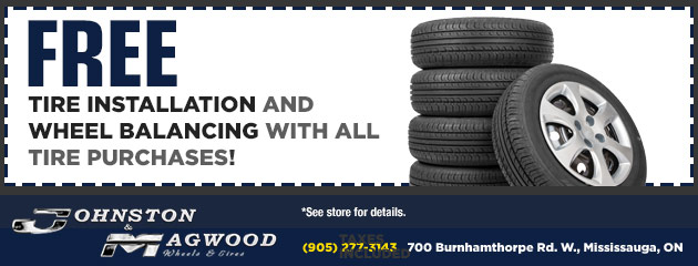 Free Tire Installation and Wheel Balancing with All Tire Purchases