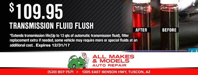 $109.95 - Transmission Fluid Flush