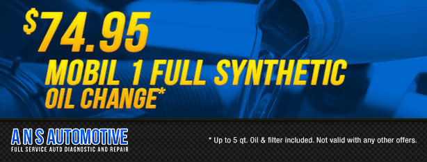 $74.95 Mobil 1 Full Synthetic Oil Change