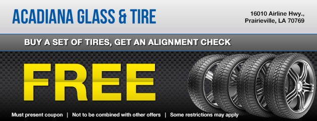 Buy a Set Tires, Get a Free Alignment Check