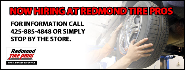 Now Hiring at Redmond Tire Pros