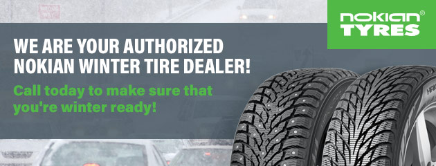 We are your authorized Nokian Winter Tire Dealer!