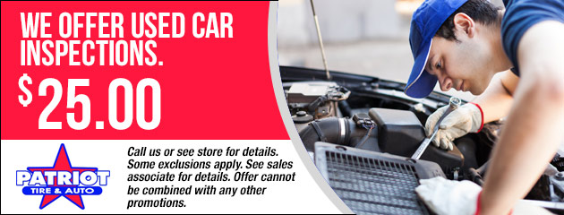 We Offer Used Car Inspections - $25.00
