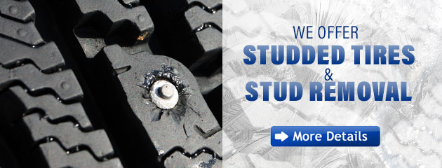 We Offer Studded Tires & Stud Removal