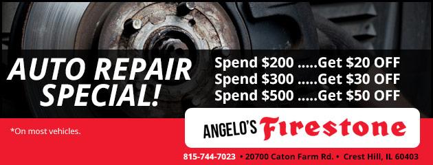 Angelo S Firestone Crest Hill Il Tires Auto Repair Shop