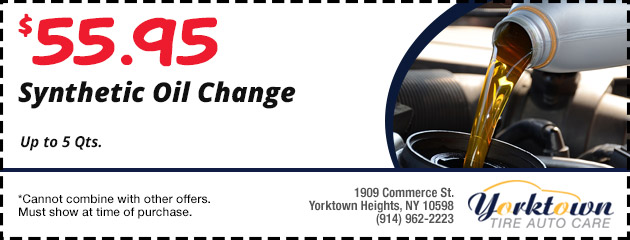 Synthetic Oil change $55.95