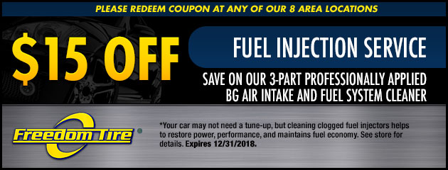 $15 Off Fuel Injection Service Special