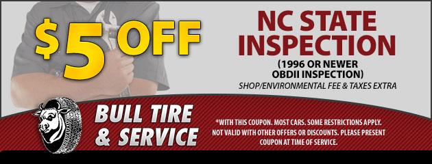 $5 Off NC State OBDII Inspections