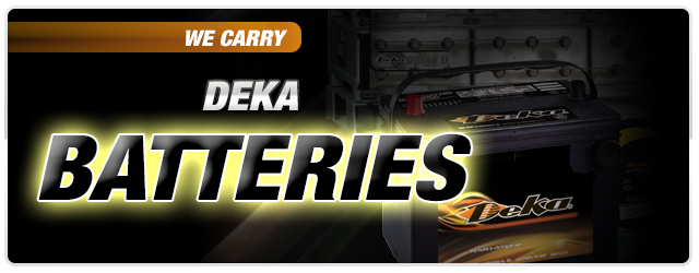 We Carry Deka Batteries
