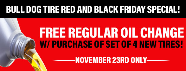 FREE Oil Change w/ purchase of set of 4 new tires!