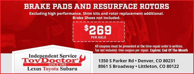 Brake Pads & Resurface Rotors