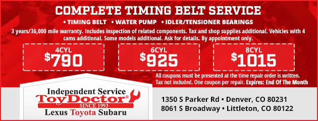 Complete Timing Belt Service