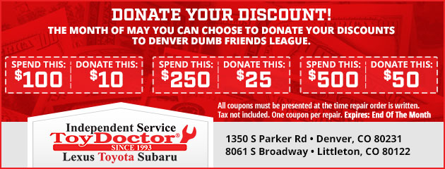 Donate Your Discount!