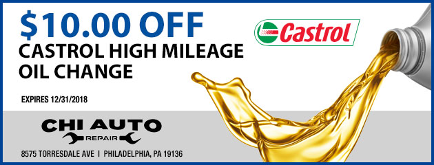$10 Off High Mileage Oil Change