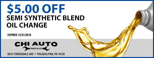 $5 Off Semi Synthetic Blend Oil Change