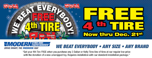 Free 4th Tire