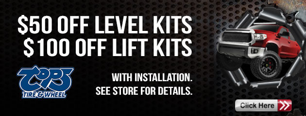 $50 Off Level Kits, $100 Off Lift Kits