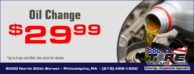 $29.99 Oil Change Special