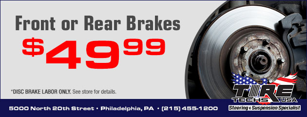 $49.99 Front or Rear Brake Pad Special