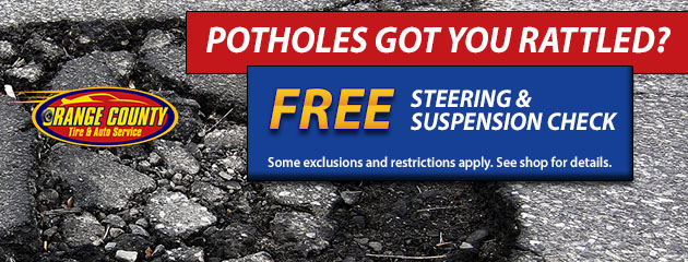 Free Steering & Suspension Check
