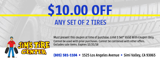 $10 Off Any Set Of 2 Tires