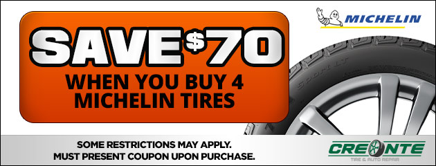 Save $70 On Michelin Tires
